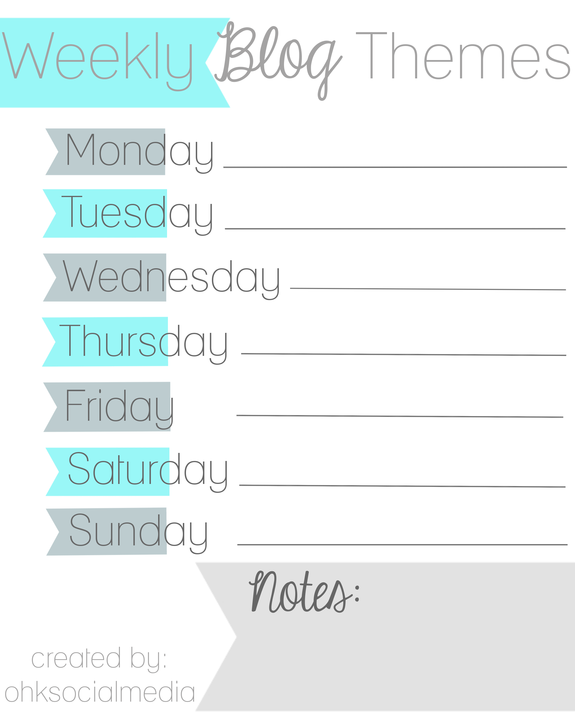 Blog Schedule Themes