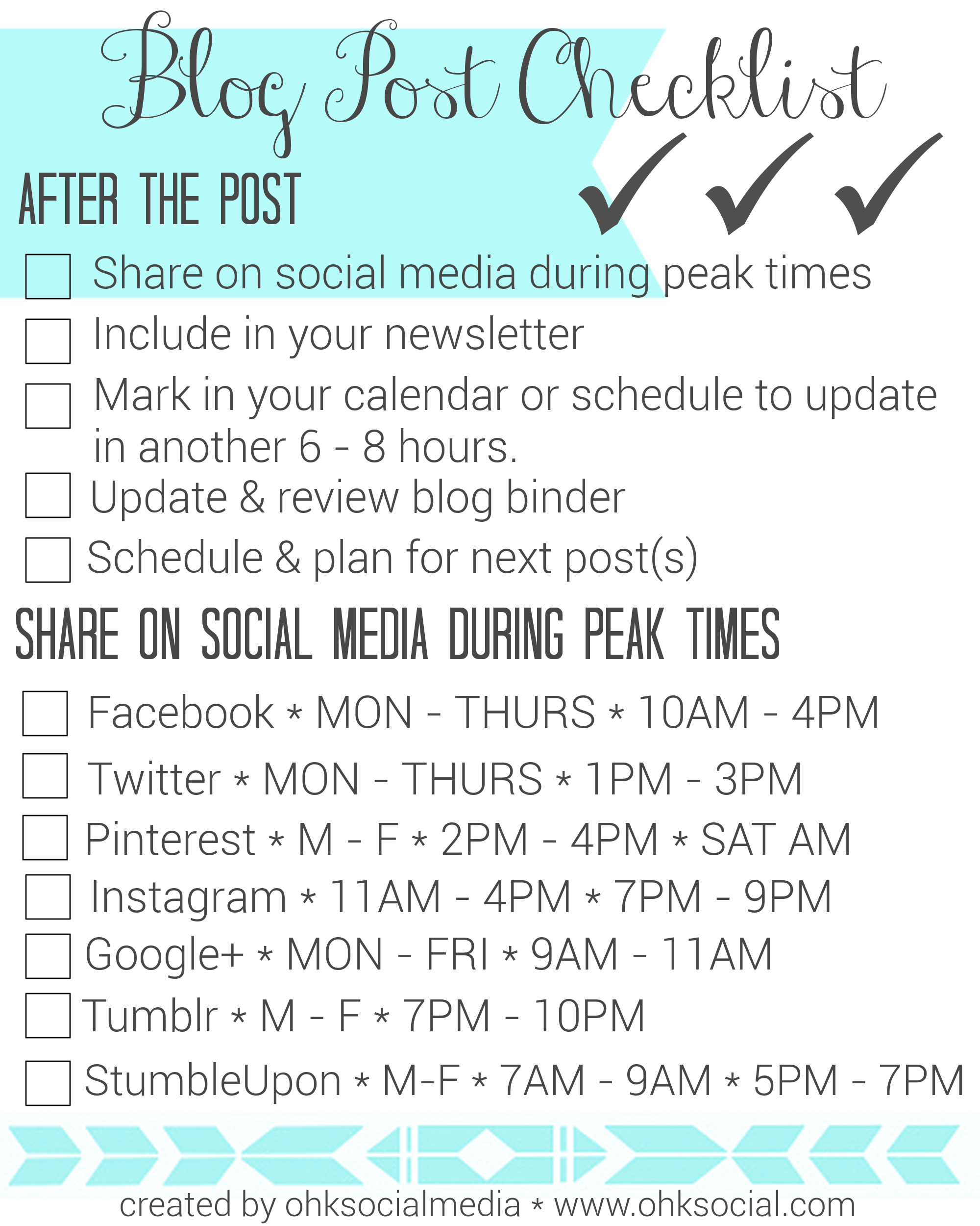 Blog Post Checklist 2 - ohksocialmedia