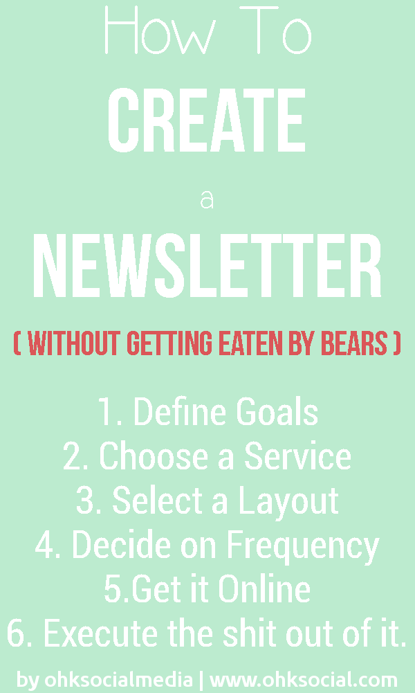 How to Create A Newsletter - 6 Point Checklist - ohksocialmedia
