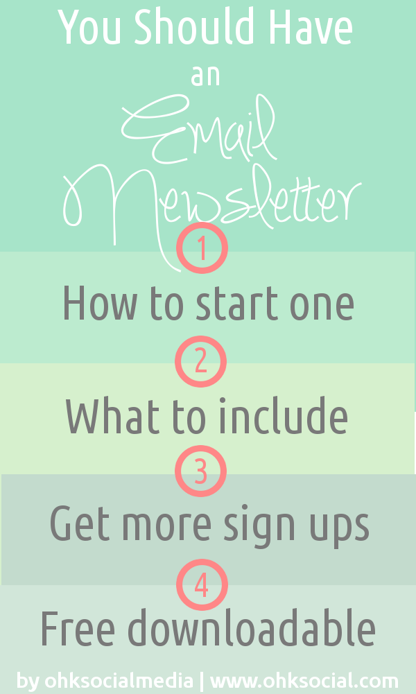 How to Start An Email Newsletter - 4 part series - ohksocialmedia