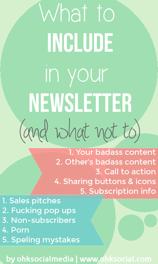 What to Put in a Newsletter - And What Not To! - ohksocialmedia