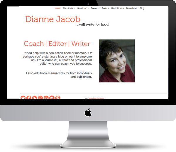 Dianne Jacob Mockup - Website Design Portfolio - Peppercorn Creative