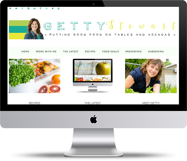 Getty Stewart Website Design Mockup - Website Design Portfolio - Peppercorn Creative