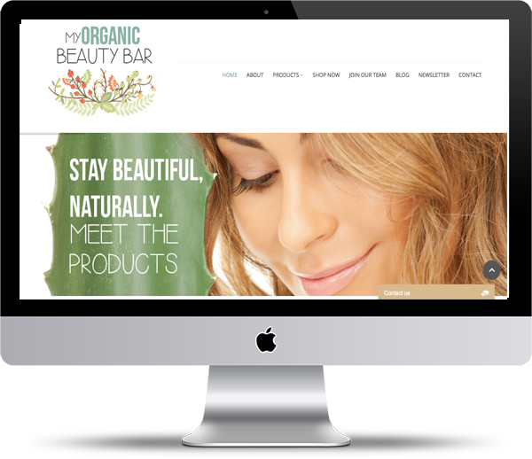 My Organic Beauty Bar Mockup - Website Design Portfolio - Peppercorn Creative