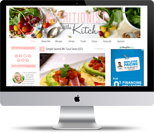 Nutritionist In the Kitch Mockup - Website Design Portfolio - Peppercorn Creative