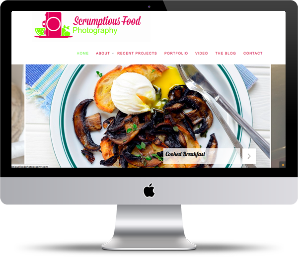 Scrumptious Food Photography Mockup - Website Design Portfolio - Peppercorn Creative