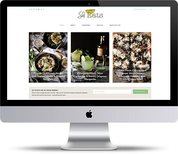 She Eats Food Blog Design Mockup - Website Design Portfolio - Peppercorn Creative