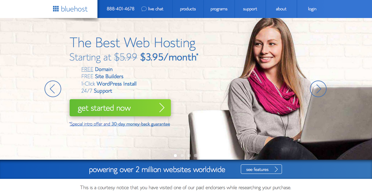 Bluehost Website Hosting - Peppercorn Creative