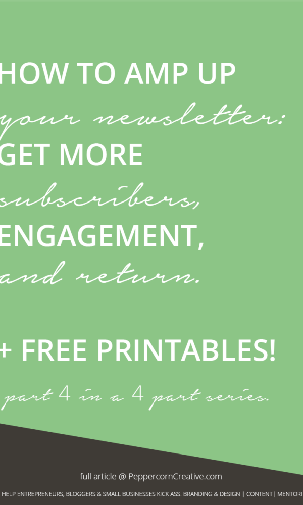 How to write a newsletter + email marketing tips - PeppercornCreative.com | website design agency and blog & business mentor in Vancouver BC