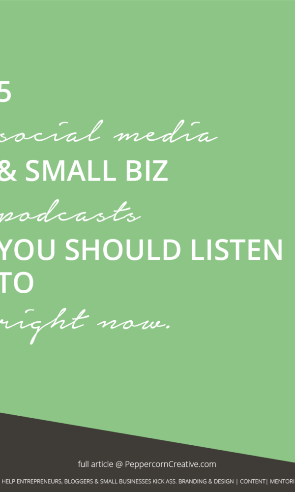 Podcasts you should listen to - PeppercornCreative.com   website design agency and blog & business mentor in Vancouver BC