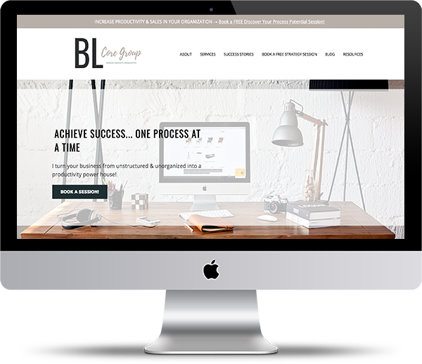 BL Core Group - Process and Procedure Specialist Website Design by Peppercorn Creative, Vancouver B.C.