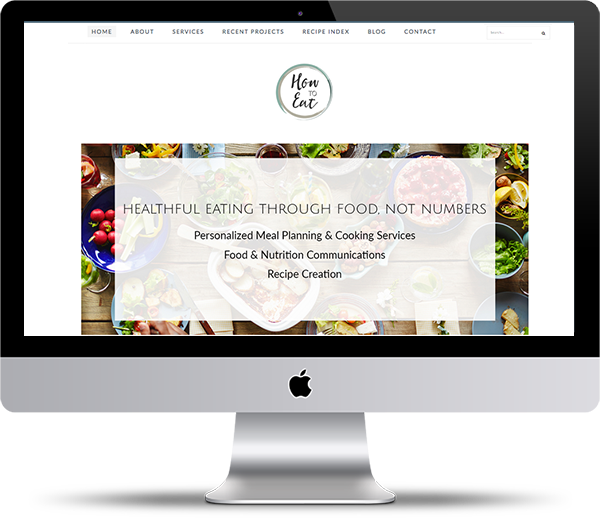 How To Eat - Dieticians and Meal Planning Website Design by Peppercorn Creative, Vancouver B.C.