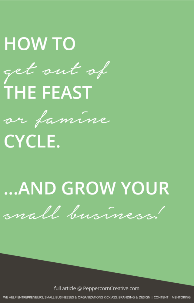 How to get out of the feast or famine cycle and grow your small business | website design agency and blog & business mentor in Vancouver BC